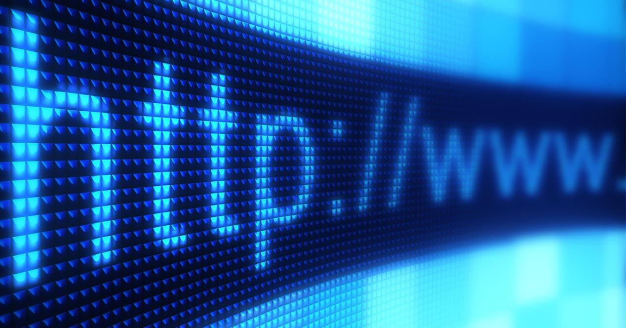 Dirección web URL