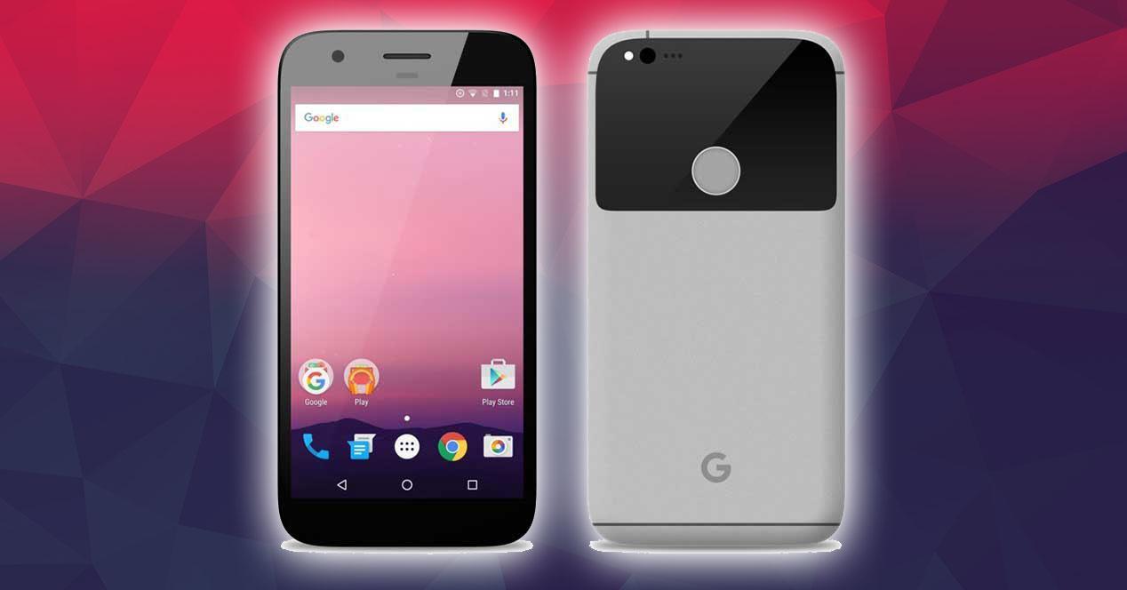 render en gris del google pixel