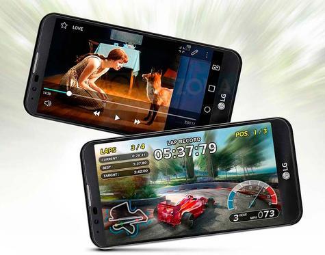 LG X Match con videojuegos en pantalla