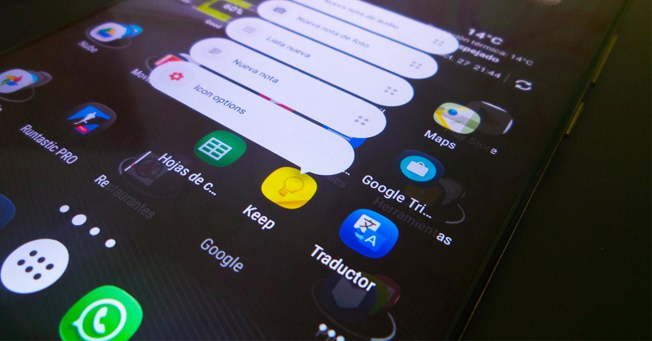 Accesos directos de Android Nougat en Nova Laucher