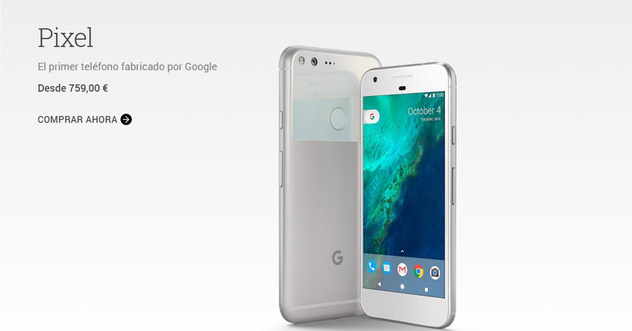 Información sobre el precio del Google Pixel en Europa