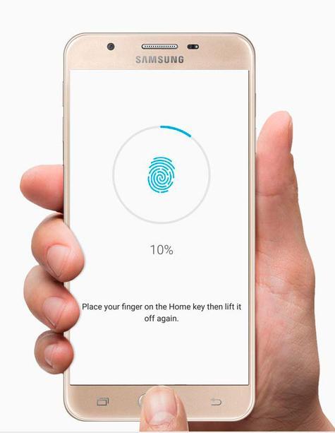 Samsung Galaxy J5 Prime huella dactilar