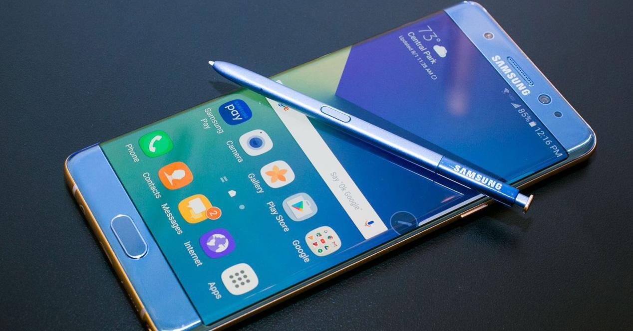 Galaxy note 7 azul
