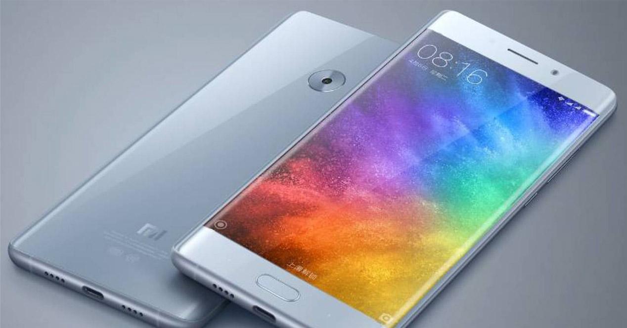 Display curvo del Xiaomi Mi Note 2