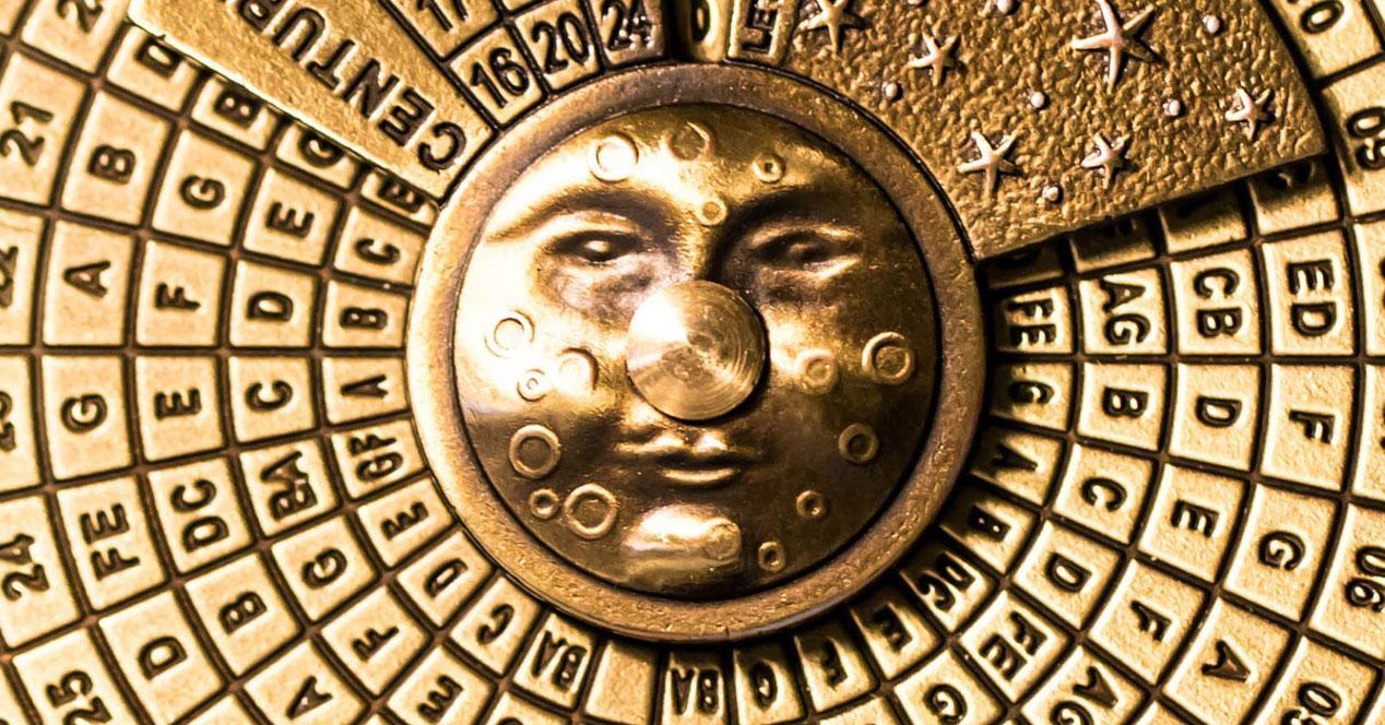 calendario lunar de mano