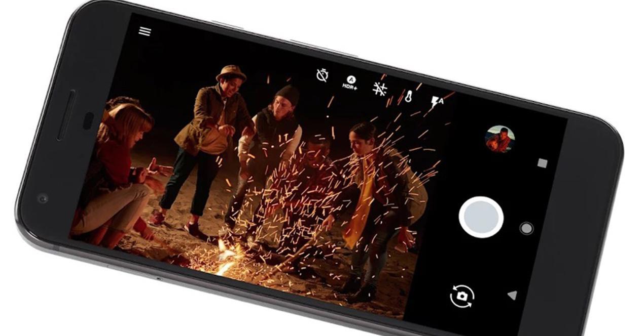 Interfaz de la cámara del Google Pixel