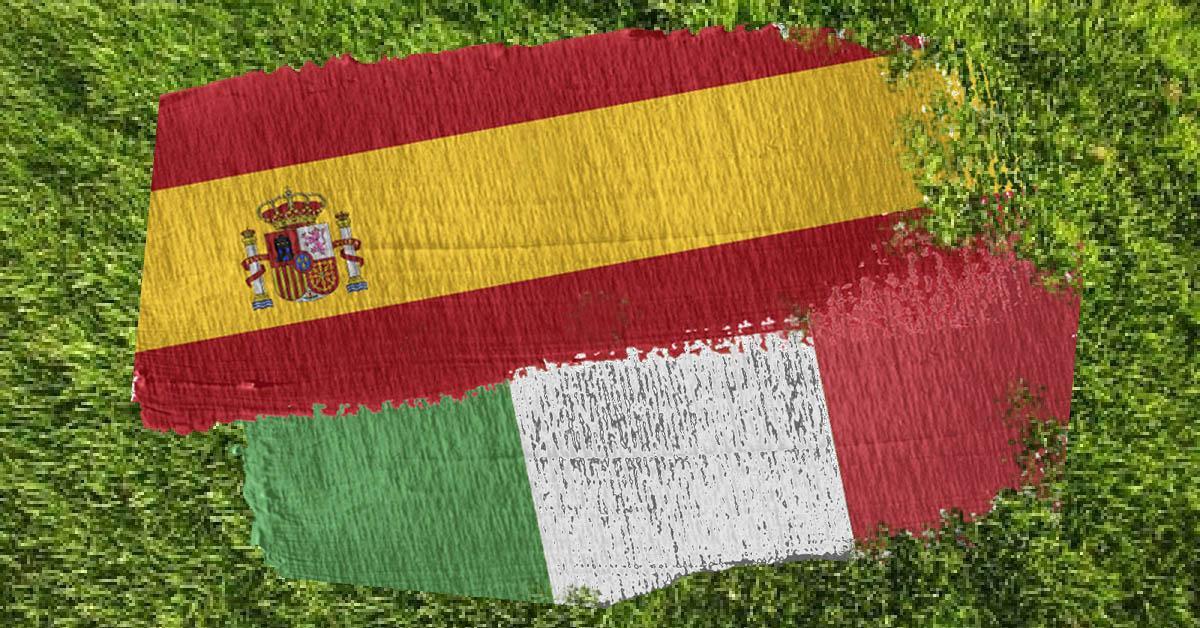 banderas españa italia