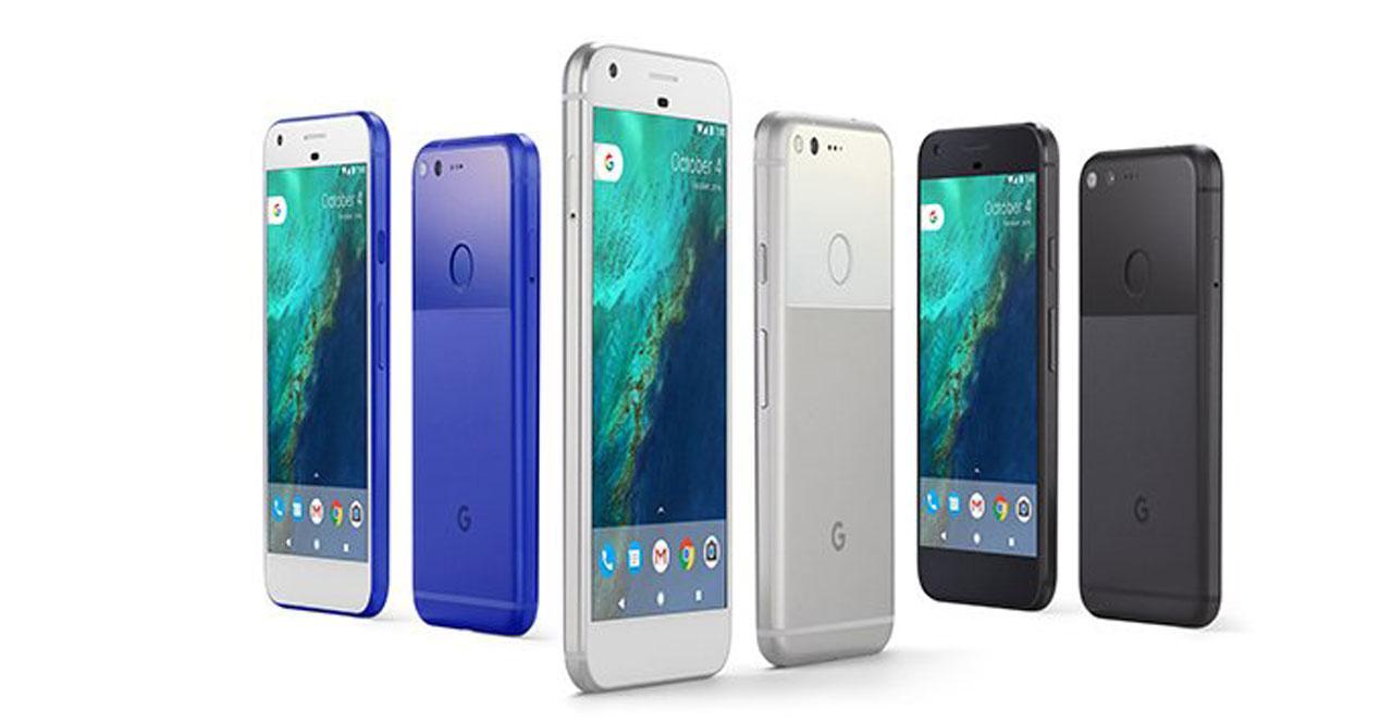 google pixel en colores