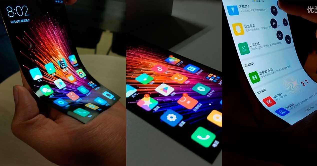 Xiaomi con pantalla flexible