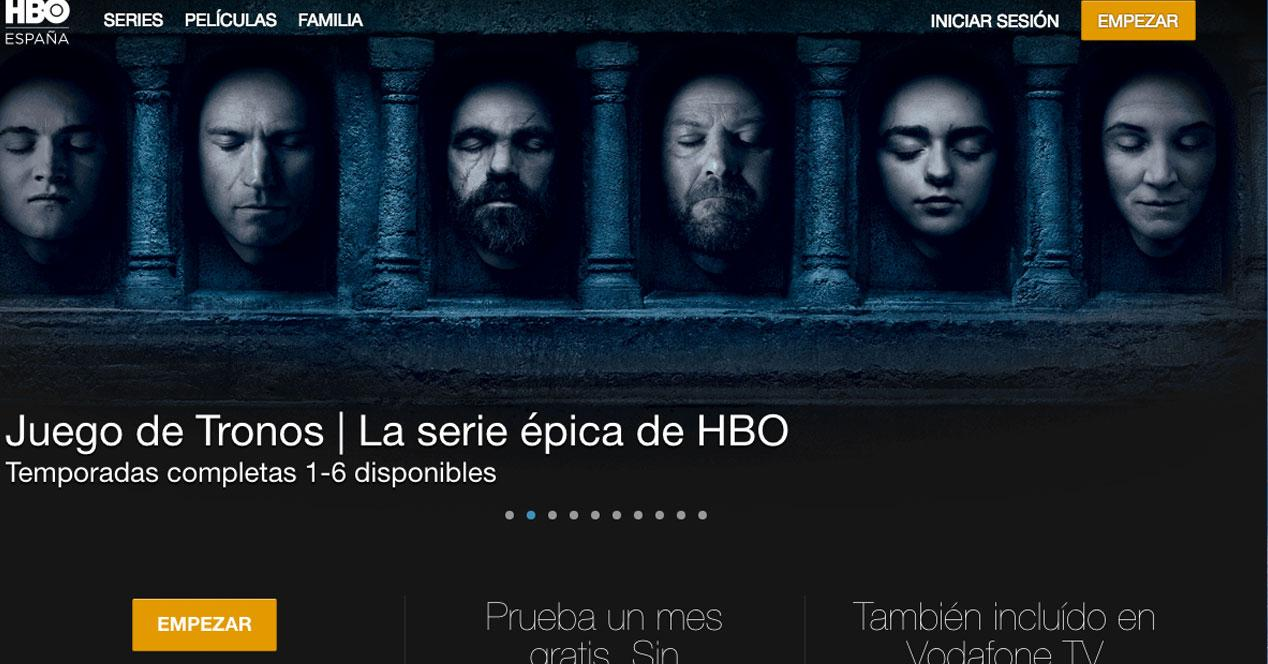 página web hbo españa