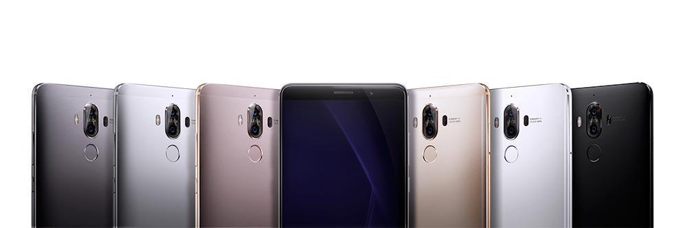 Huawei Mate 9 negro, dorado, rosa y blanco