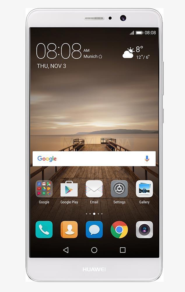Huawei Mate 9 dorado frontal