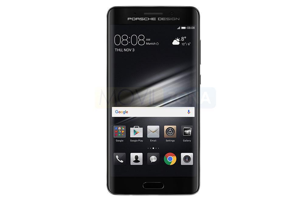 Huawei Mate 9 Porsche Design de color negro vista frontal
