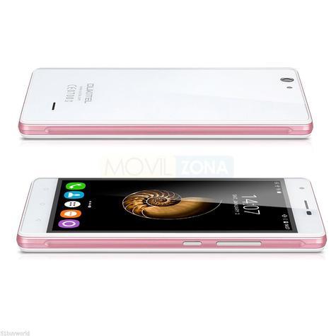 Oukitel C4 blanco y rosa