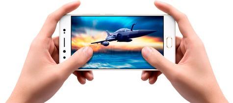 Vivo X9 con avión en pantalla
