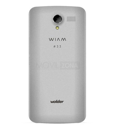 Wolder Wiam 33 gris cámara trasera
