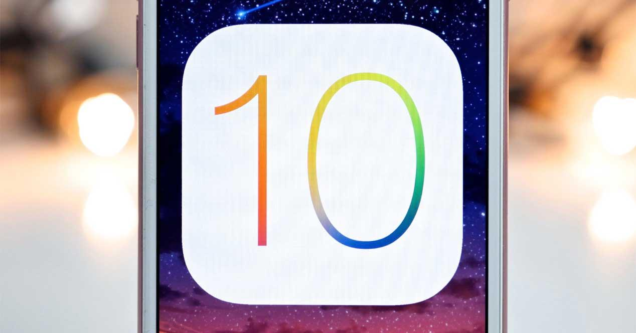 logo de iOS 10 en iPhone
