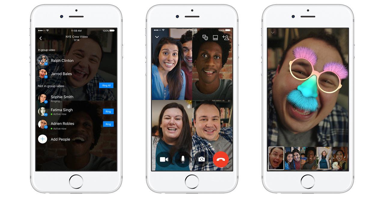 App de Facebook Messenger con videollamadas en grupo