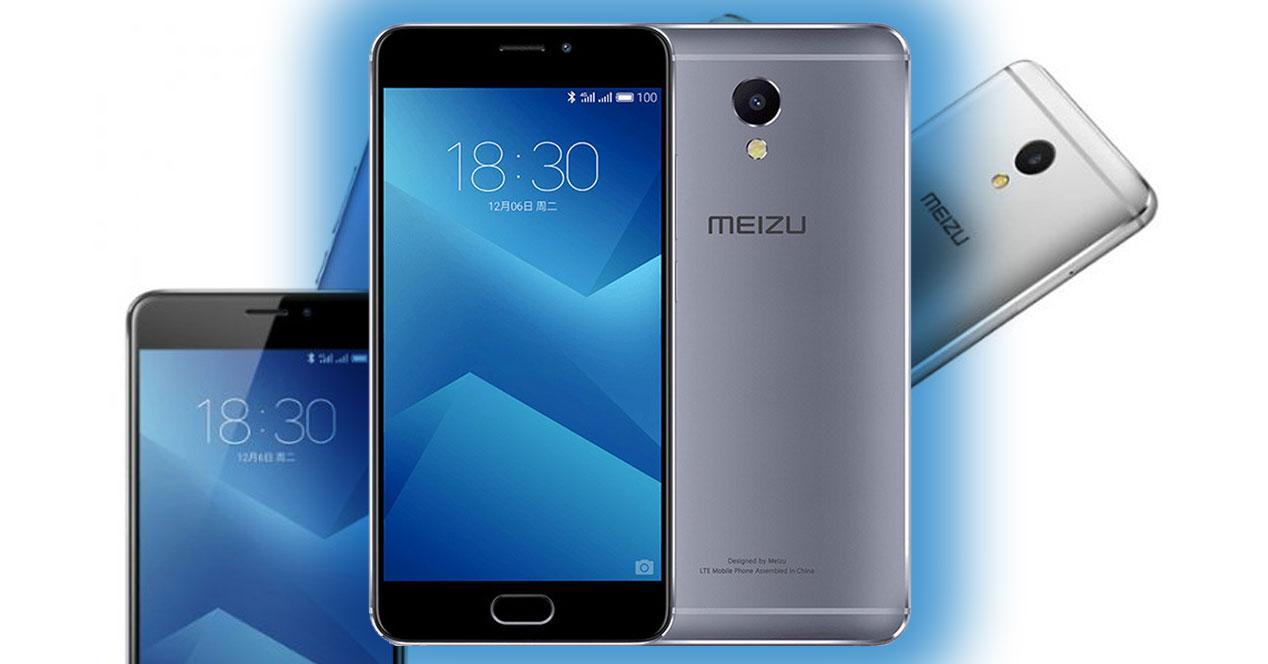 Meizu M5 Note azul con modelos de fondo