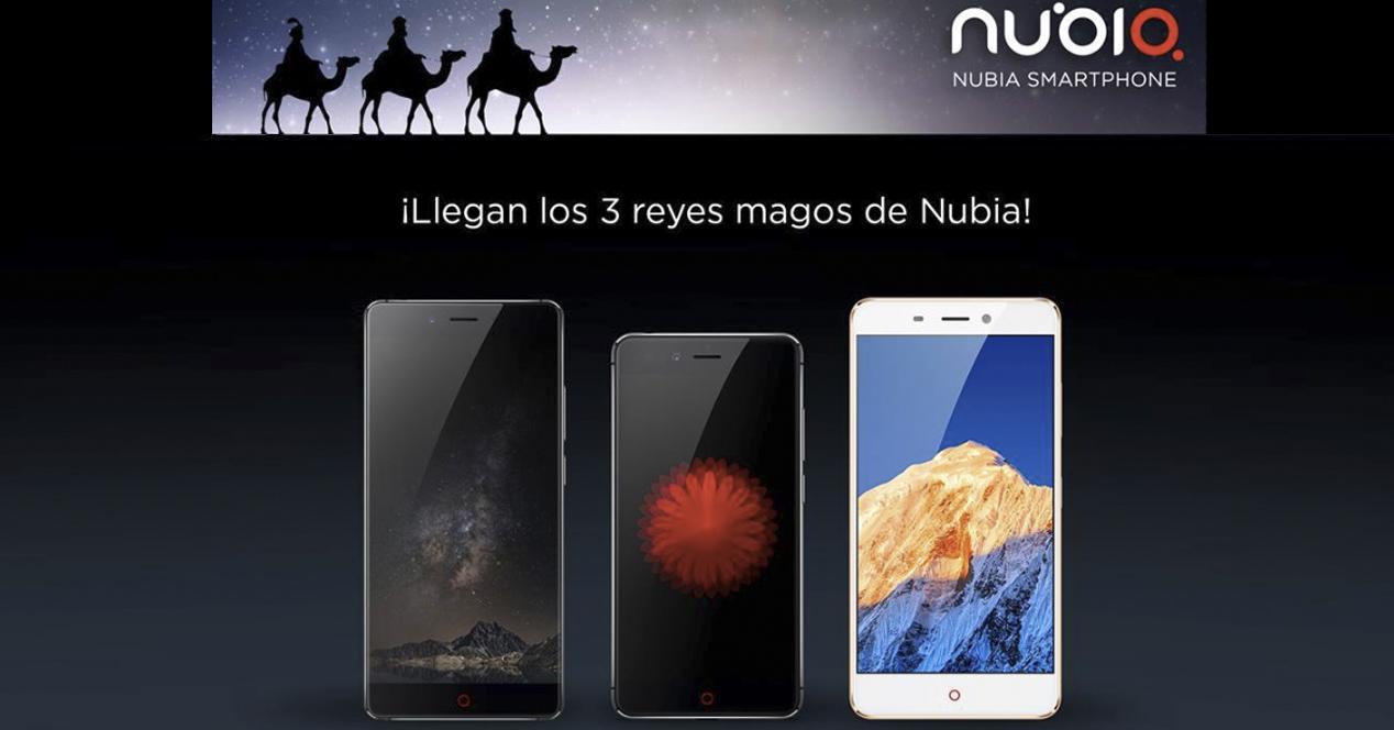 móviles nubia