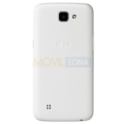 LG K4 blanco vista trasera