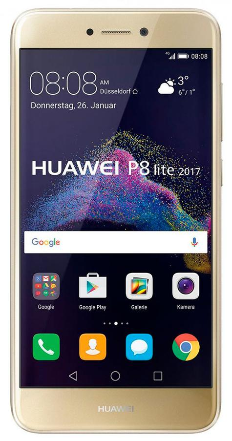 Huawei P8 Lite 2017 dorado frontal