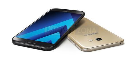 Samsung Galaxy A7 2017 dorado y negro