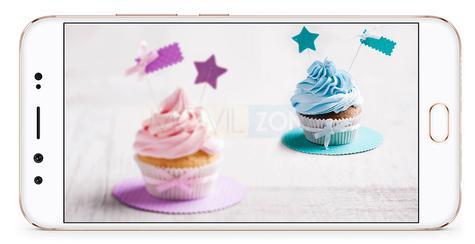 Vivo V5 Plus con pasteles en la pantalla