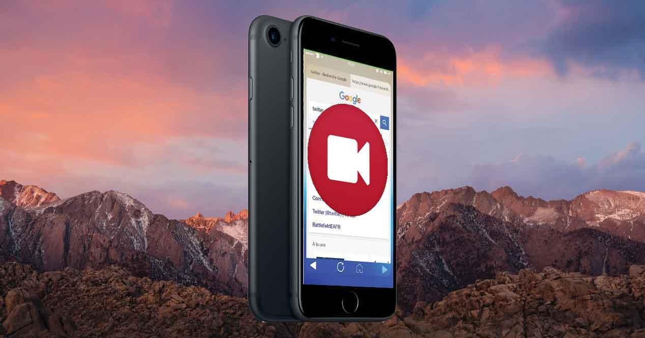 pantalla del iphone