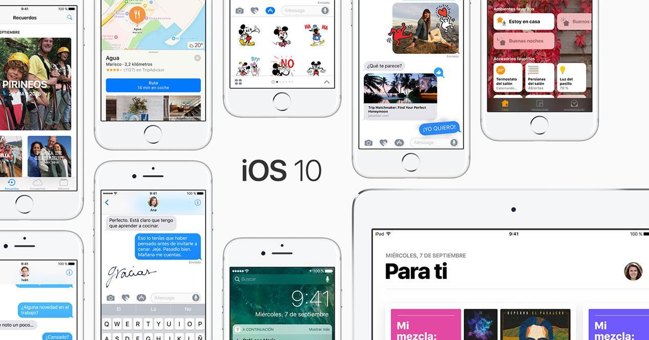 Actualización de iOS 10
