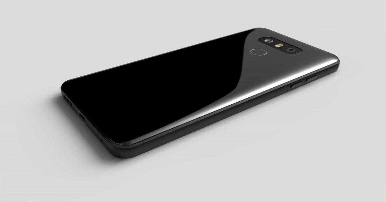 LG G6 de color negro brillante