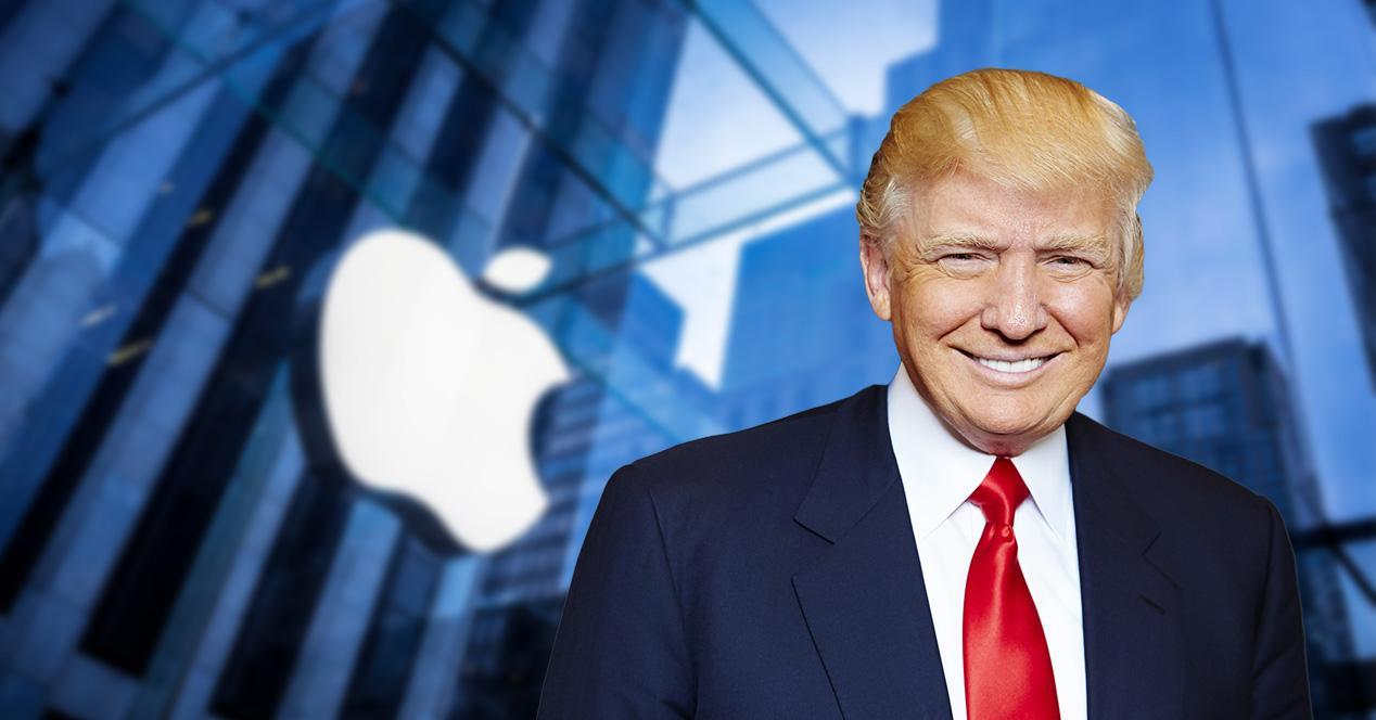donald trump logo apple