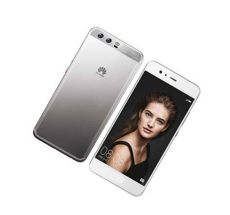 Huawei P10 blanco vista delantera y trasera