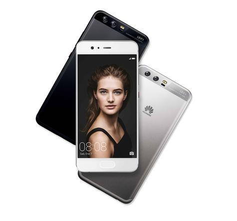 Huawei P10 plateado y blanco