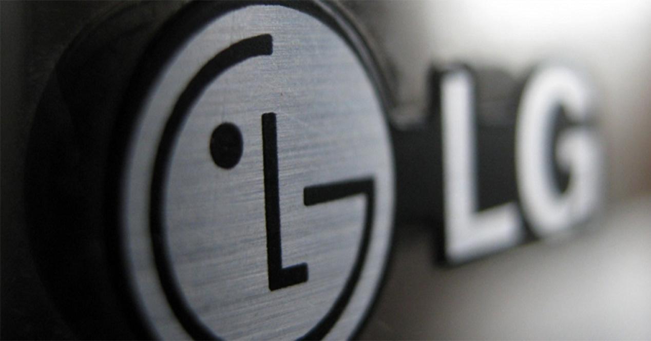 Logo de LG en color gris