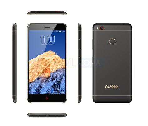 Nubia N1 Black vista delantera, trasera, lateral y cámara