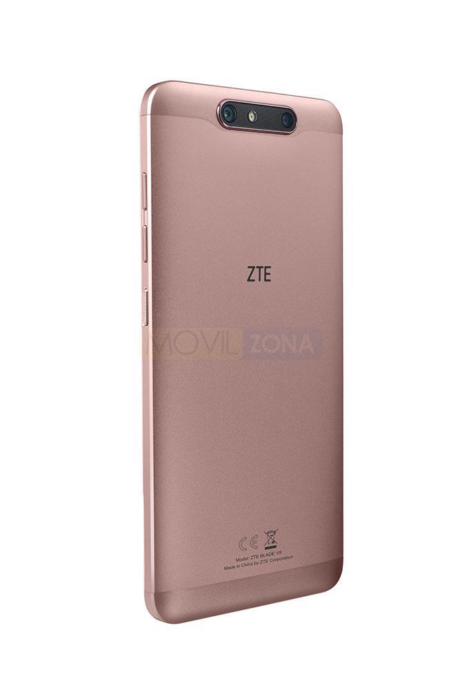 ZTE Blade V8 rosa vista trasera