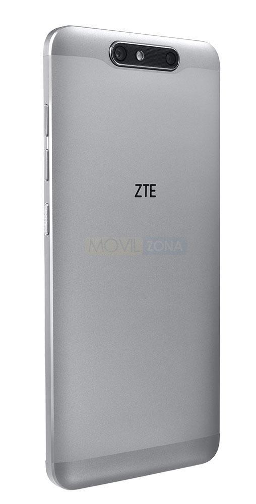 ZTE Blade V8 plateado vista trasera
