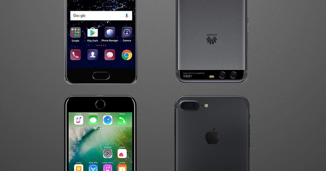 Huawei P10 y el iPhone 7
