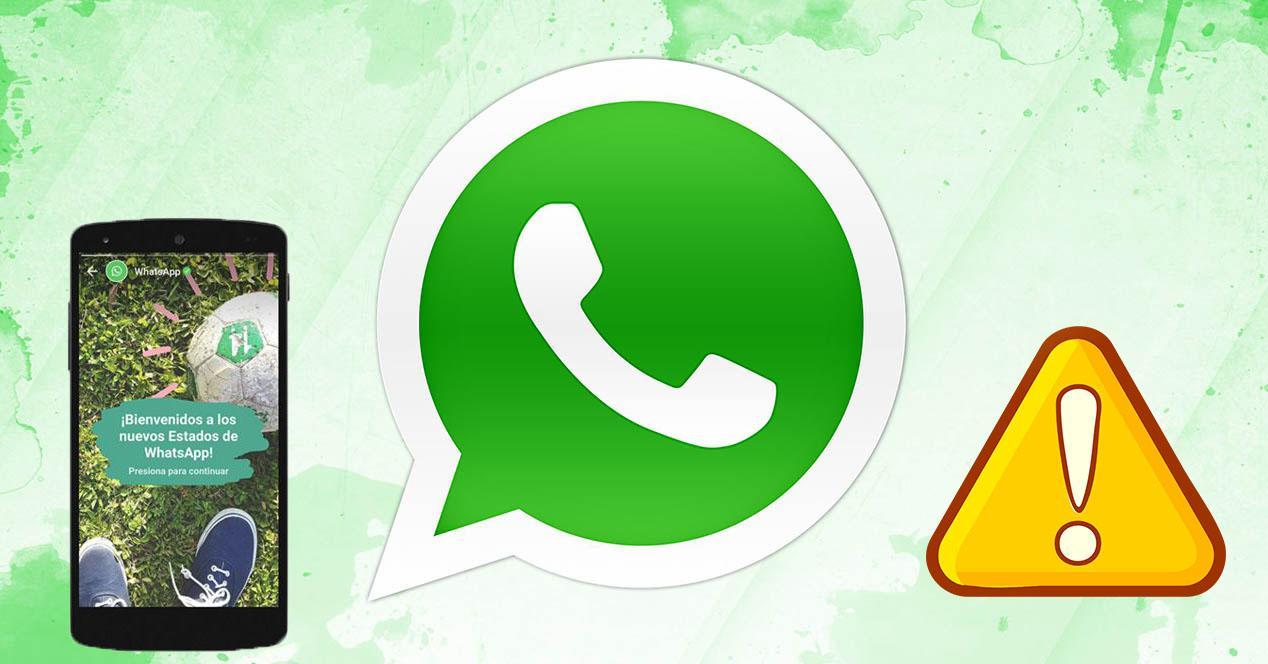 riesgos de los estados de WhatsApp