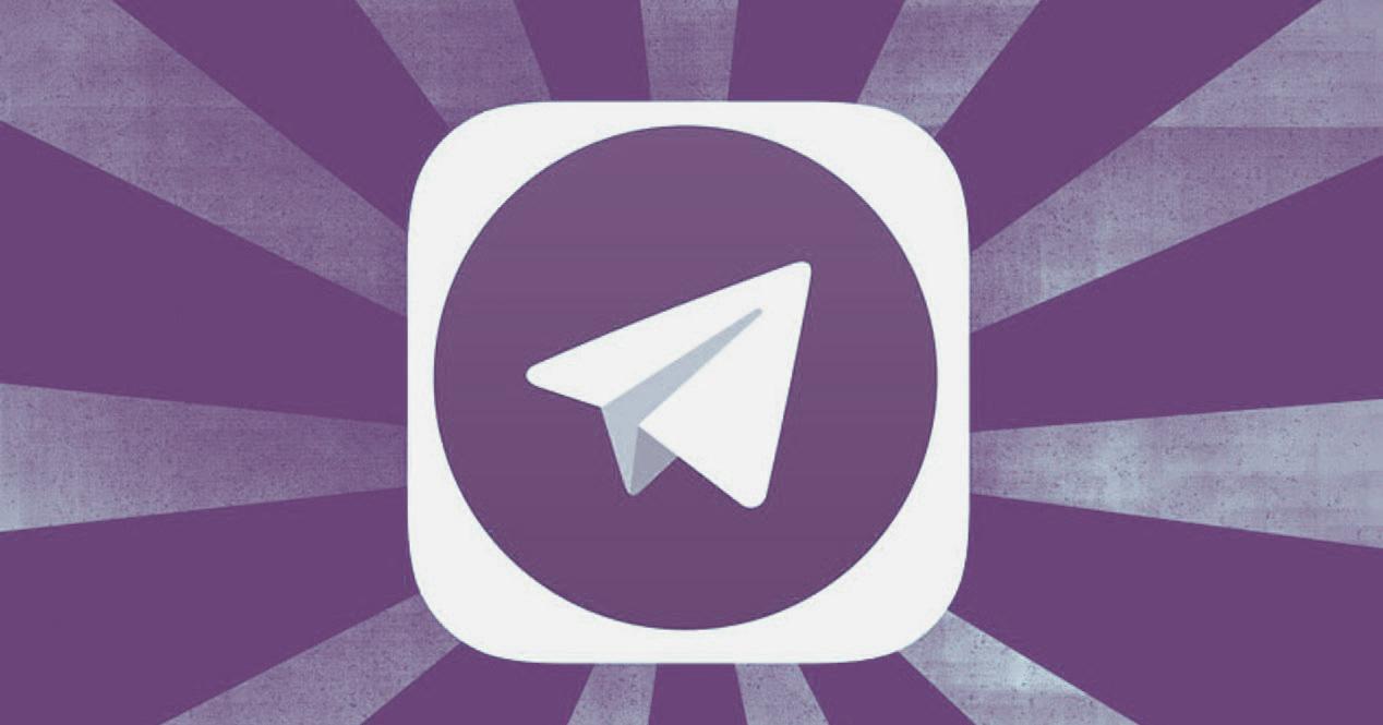 telegram de color morado