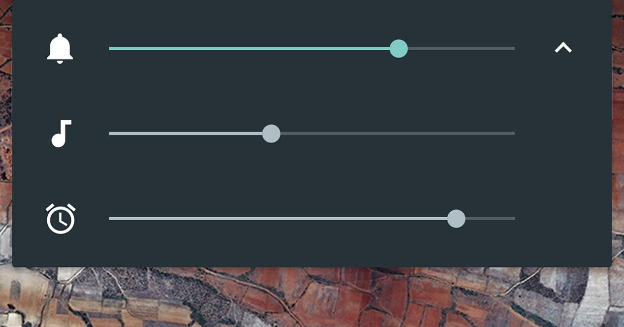 volumen del movil Android