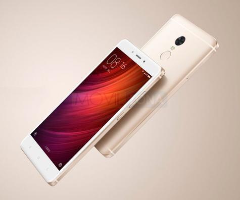 Xiaomi Redmi Note 4x blanco y dorado