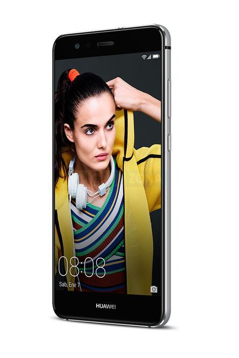 Huawei P10 Lite negro con chica en pantalla
