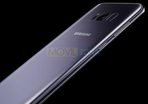 Samsung Galaxy S8 detalle lateral y cámara