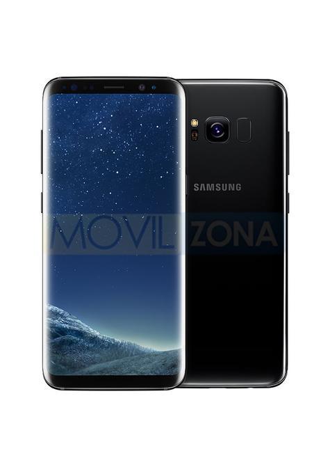 Samsung Galaxy S8 negro vista delantera y trasera