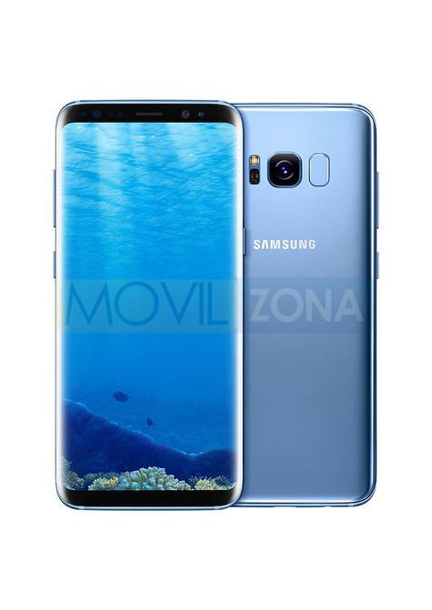 Samsung Galaxy S8 azul vista delantera y trasera