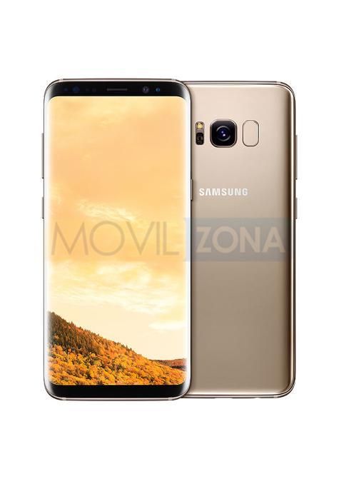 Samsung Galaxy S8 dorado vista delantera y trasera
