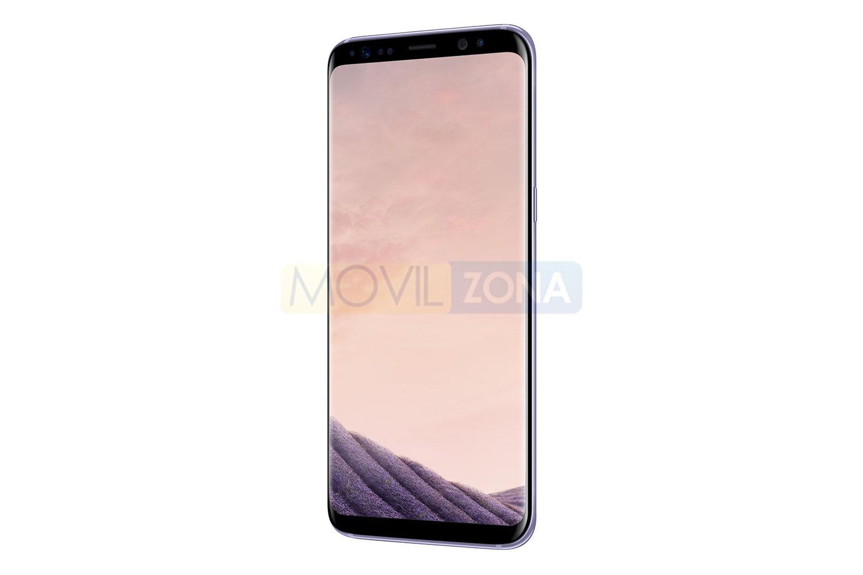 Samsung Galaxy S8 negro con pantalla rosa