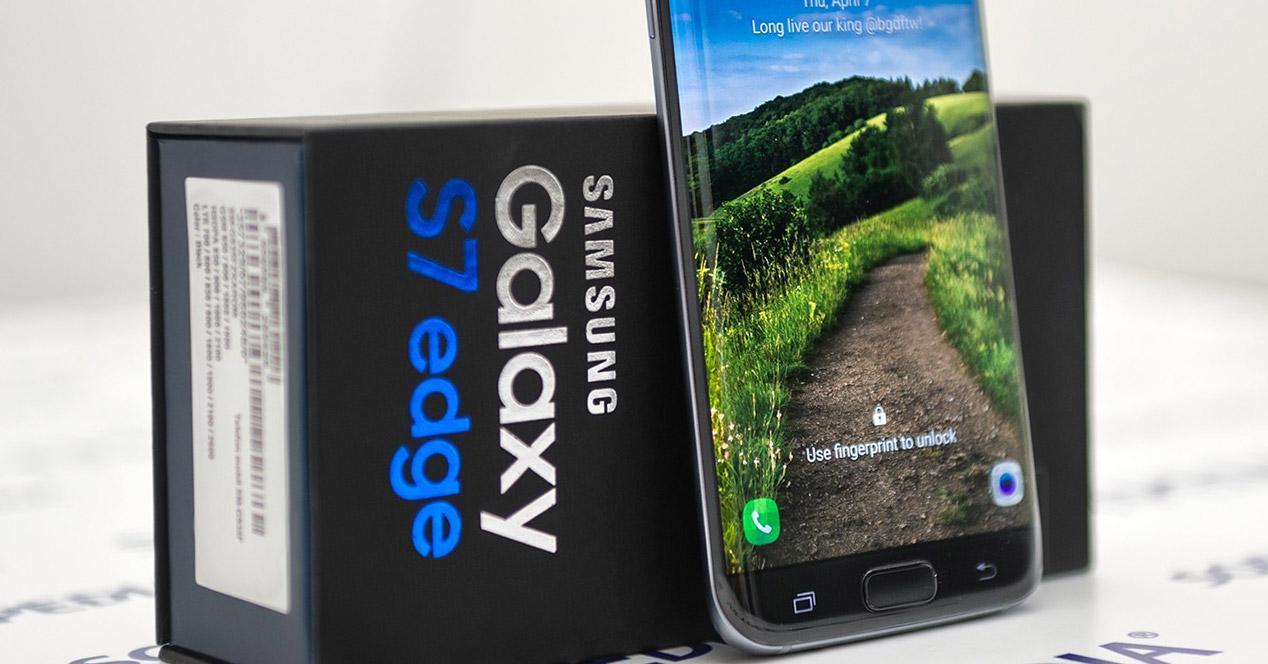 caja del Samsung Galaxy S7 Edge